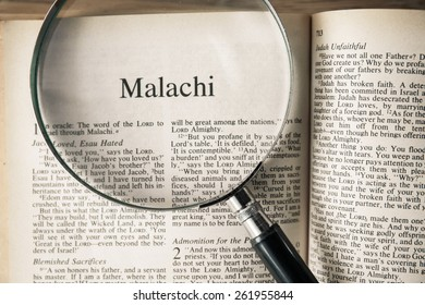 """CHIANGMAI, THAILAND, March 17,2015. Reading The New International Version of the Holy Bible on the book of """" malachi """" at home. March 17,2015"""