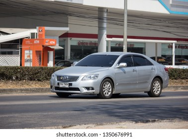 Chiangmai, Thailand - March 4 2019: Private car Toyota Camry. On road no.1001 8 km from Chiangmai Business Area.