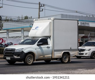 Chiangmai, Thailand - March  4 2021: Private Isuzu Dmax Pickup Truck. On road no.1001 8 km from Chiangmai city.