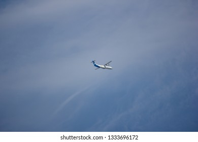 Chiangmai, Thailand - March  6 2019: RDPL-34173 ATR72-500 of Lao Airlines. In Flight Chiang mai to Luang Prabang.