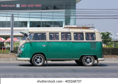 CHIANGMAI, THAILAND -MARCH 8 2016:   Vintage volkswagen van. Photo at road no.121 about 8 km from downtown Chiangmai, thailand.