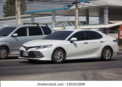 Chiangmai, Thailand - March 8 2019: Private car New Toyota Camry. On road no.1001 8 km from Chiangmai Business Area.