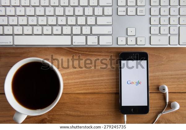 CHIANGMAI, THAILAND -MAY 19, 2015:Google is an American multinational corporation specializing in Internet-related services and products. Most of its profits are derived from AdWords.