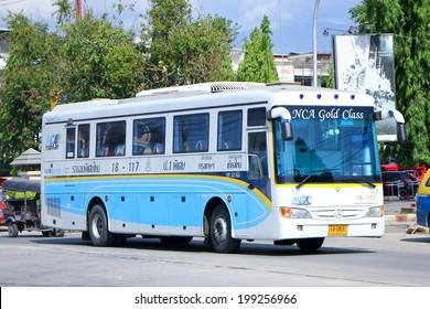 CHIANGMAI , THAILAND - MAY 24 2014  Nakhonchai air company bus no.18-117.  NCA GOLD CLASS. Route Bangkok and Chiangmai  Photo at Chiangmai bus station.