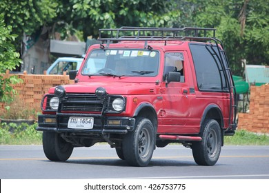 CHIANGMAI, THAILAND -MAY 3 2016:  Private car, Suzuki Caribian.  Photo at road no.1001 about 8 km from downtown Chiangmai, thailand.