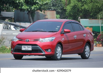 CHIANGMAI, THAILAND -MAY 6 2016: Private car, Toyota Vios. Photo at road no.121 about 8 km from downtown Chiangmai, thailand.