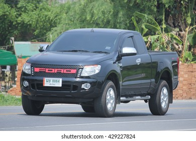 CHIANGMAI, THAILAND -MAY 6 2016: Private Pickup car, Ford Ranger. On road no.1001, 8 km from Chiangmai city.