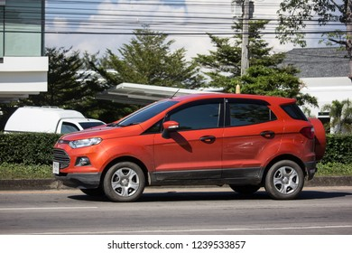 Chiangmai, Thailand - November 15 2018: Private car Ford Ecosport Suv car for Urban User. On road no.1001 8 km from Chiangmai Business Area.