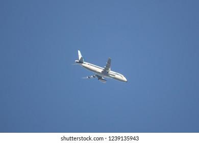 Chiangmai, Thailand - November 16 2018: 60319 Sukhoi Superjet 100 of  Royal Thai Air Force. From Chiangmai Airport.