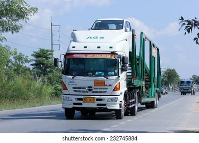 CHIANGMAI, THAILAND - NOVEMBER 17 2014: Somchai logistic (Northstar) mini truck. Photo at road no 121 about 8 km from downtown Chiangmai, thailand.