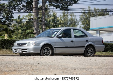 Chiangmai, Thailand - November 19 2019: Private car, Toyota Soluna Vios. On road no.1001, 8 km from Chiangmai Business Area.