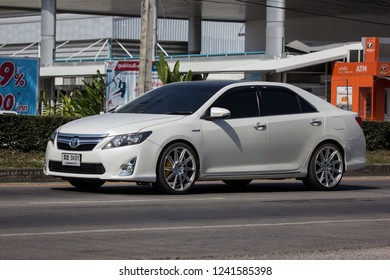 Chiangmai, Thailand - November 23 2018: Private car Toyota Camry. On road no.1001 8 km from Chiangmai Business Area.