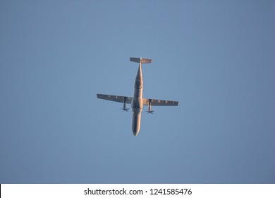 Chiangmai, Thailand - November 23 2018: XY-AJY ATR72-600 of Myanmar National Airlines. Take off from Chiangmai airport to Yangoon.