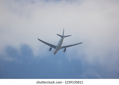 Chiangmai, Thailand - November 24 2018: B-5936 Airbus A330-200 of China Eastern Airline. Take off from chiangmai Airport to Shanghai.