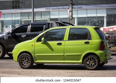Chiangmai, Thailand - November 26 2018: Private car, Chery QQ. On road no.1001, 8 km from Chiangmai city.