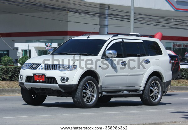 CHIANGMAI, THAILAND -NOVEMBER 5 2015:  Mitsubishi Pajero Suv Car. Photo at road no.1001 about 8 km from downtown Chiangmai, thailand.