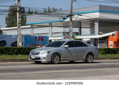Chiangmai, Thailand - November 5 2018: Private car Toyota Camry. On road no.1001 8 km from Chiangmai Business Area.