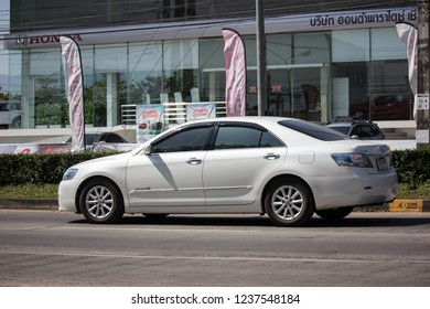 Chiangmai, Thailand - November 8 2018: Private car Toyota Camry. On road no.1001 8 km from Chiangmai Business Area.