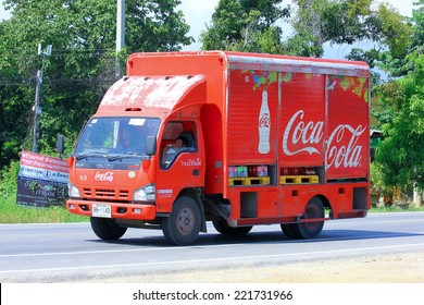 Chiangmai, Thailand - October 1, 2014: Coca Cola Truck (Coke). Photo at road no 121 about 8 km from downtown Chiangmai, thailand.