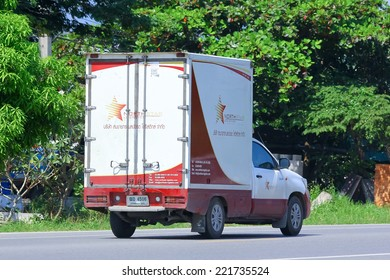 Chiangmai, Thailand - October 1, 2014: Somchai logistic (Northstar) mini truck. Photo at road no 121 about 8 km from downtown Chiangmai, thailand.