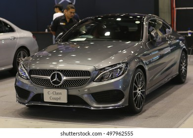 CHIANGMAI, THAILAND - OCTOBER 13, 2016 : Mercedes-Benz C 250 Coupe on display at Central Plaza Chiangmai