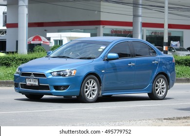 CHIANGMAI, THAILAND - OCTOBER 2  2016:  Private car, Mitsubishi Lancer. Photo at road no 121 about 8 km from downtown Chiangmai, thailand.