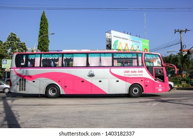 Chiangmai, Thailand - October 20 2012: Bus of Transport government company.  Photo at Chiangmai bus station.