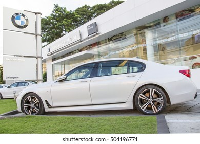 CHIANGMAI, THAILAND - OCTOBER 25 2016 : New models of the brand BMW in a dealer's showroom in Chiangmai, Thailand.