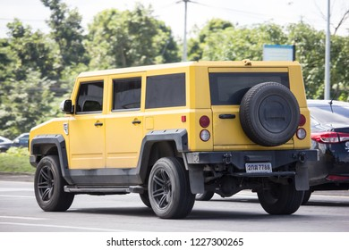 Chiangmai, Thailand - October 25 2018: Thairung tranformer, Sports Utility Vehicle design and build by thairung company. engine use toyota. Photo at road no.121 , 8 km from city Chiangmai, thailand.