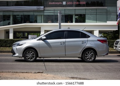 Chiangmai, Thailand -  October 29 2019: Private Sedan car Toyota Vios. On road no.1001 8 km from Chiangmai Business Area.