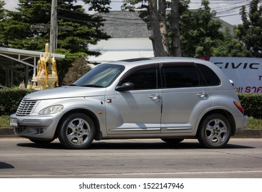 Chiangmai, Thailand -  October 3 2019: Private Chrysler PT Cruiser Car. Photo at road no 121 about 8 km from downtown Chiangmai, thailand.