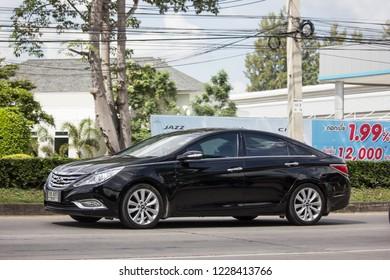 Chiangmai, Thailand - October 30 2018: Private car, Hyundai Sonata. Photo at road no 121 about 8 km from downtown Chiangmai, thailand.