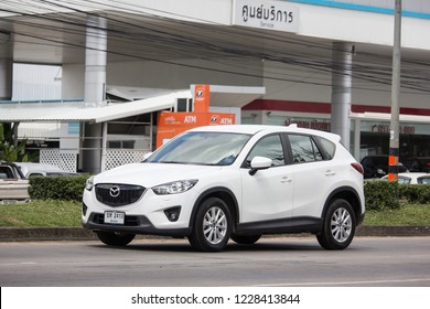 Chiangmai, Thailand - October 30 2018: Private car, Mazda CX-5,cx5. On road no.1001, 8 km from Chiangmai Business Area.