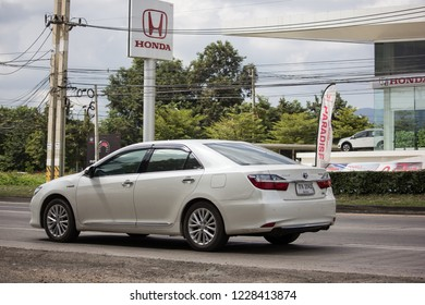 Chiangmai, Thailand - October 30 2018: Private car Toyota Camry. On road no.1001 8 km from Chiangmai Business Area.