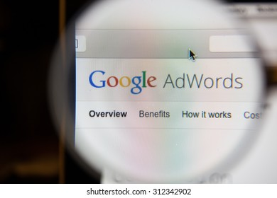 CHIANGMAI, THAILAND - September 1, 2015:Google AdWords is an online advertising service that enables advertisers to compete to display brief advertising copy to web users, based on keywords.