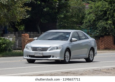 Chiangmai, Thailand - September 10 2018: Private car Toyota Camry. On road no.1001 8 km from Chiangmai Business Area.