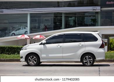 Chiangmai, Thailand - September 11 2018: Private Toyota Avanza car. Mini Suv Car for Urbun User. Photo at road no.121 about 8 km from downtown Chiangmai thailand.
