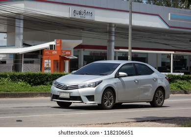 Chiangmai, Thailand - September 11 2018: Private car, Toyota Corolla Altis. Eleventh generation. On road no.1001, 8 km from Chiangmai city.