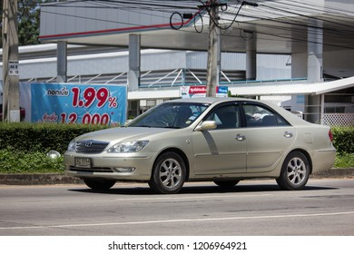 Chiangmai, Thailand - September 21 2018: Private car Toyota Camry. On road no.1001 8 km from Chiangmai Business Area.