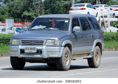 CHIANGMAI, THAILAND -SEPTEMBER  22 2015:  Private suv car, Toyota Sport rider. Photo at road no.121 about 8 km from downtown Chiangmai, thailand.