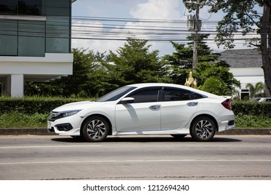 Chiangmai, Thailand - September 25 2018: Private Sedan Car from Honda Automobil,Tenth generation Honda Civic. On road no.1001 8 km from Chiangmai Business Area.
