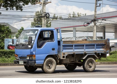 Chiangmai, Thailand - September 25 2018: Private  Isuzu  Cargo Truck. Photo at road no.1001 about 8 km from downtown Chiangmai, thailand.