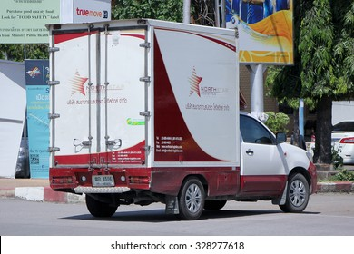 CHIANGMAI, THAILAND -SEPTEMBER 26 2015: Somchai logistic (Northstar) Container Pickup truck. Photo at New Chiangmai bus station, thailand.