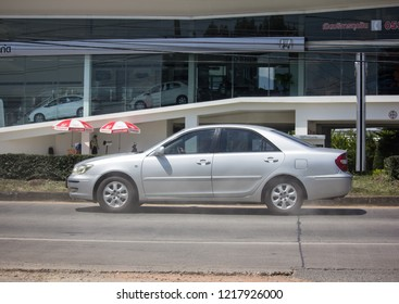 Chiangmai, Thailand - September 27 2018: Private car Toyota Camry. On road no.1001 8 km from Chiangmai Business Area.