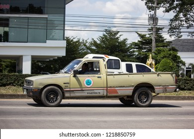 Chiangmai, Thailand - September 27 2018:  Private Isuzu KB Old Pickup car. Photo at road no 121 about 8 km from downtown Chiangmai thailand.