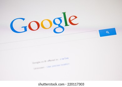 CHIANGMAI, THAILAND -SEPTEMBER 28, 2014: Google is an American multinational corporation specializing in Internet-related services and products. Most of its profits are derived from AdWords.