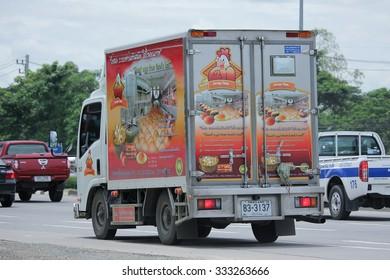 CHIANGMAI, THAILAND -SEPTEMBER  7 2015:   Truck of Thanakul fresh Egg. Photo at road no 121 about 8 km from downtown Chiangmai, thailand.