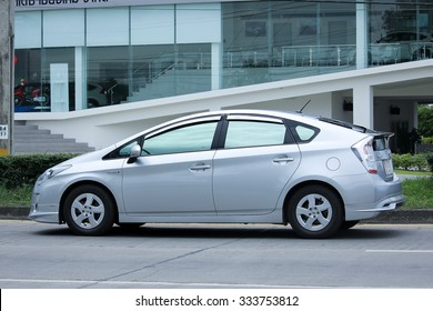 CHIANGMAI, THAILAND -SEPTEMBER  7 2015: Private car, Toyota Prius. Photo at road no.121 about 8 km from downtown Chiangmai, thailand.