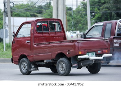 CHIANGMAI, THAILAND -SEPTEMBER  7 2015: Private Mini Truck of Daihatsu Hijet. Photo at road no.1001 about 8 km from downtown Chiangmai, thailand.