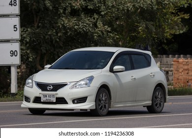 Chiangmai, Thailand - September 7 2018: Private car, Nissan Pulsar. Photo at road no 121 about 8 km from downtown Chiangmai, thailand.